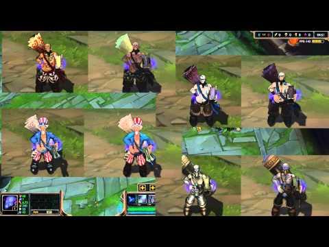 MEJORA VISUAL RYZE Y SKINS, League of Legends