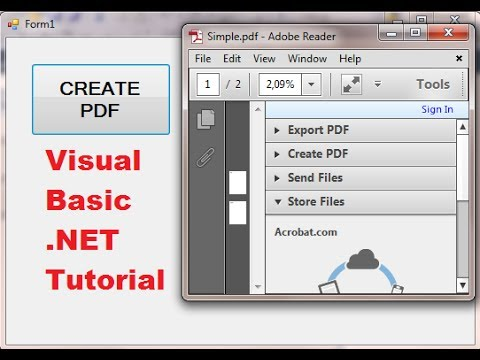 Visual Basic .NET Tutorial 47 - iTextSharp : How to create PDF file in VB.NET