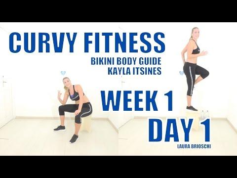 BIKINI BODY GUIDE  Kayla Itsines WEEK 1 - DAY 1 by Laura Brioschi