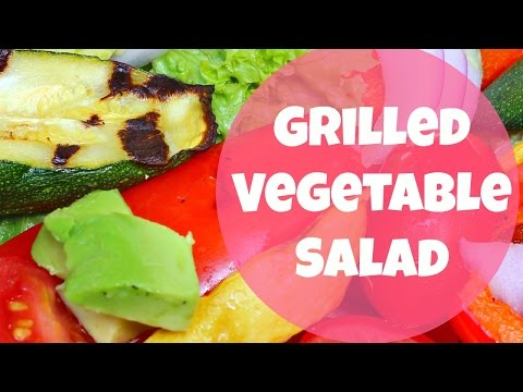 Grilled Vegetable Salad with Creamy Balsamic Dressing   By: What Chelsea Eats