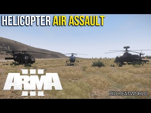 ARMA 3 (PC) - Helicopter Air Assault - AI Tutorial (DUWS Modified