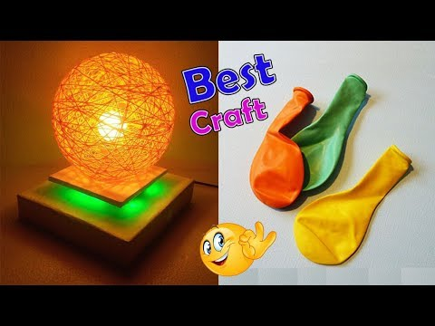 How to make a homemade lampshade   Pendent Lamp Wrapped Balloon lamp Balloon craft