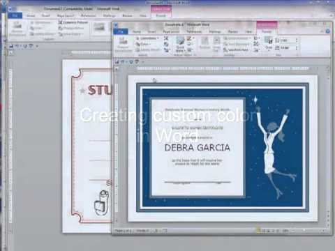 Changing template color in Microsoft Word and Powerpoint