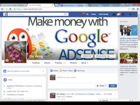 How to Get Code Or place code  Google Adsense on Facebook Page  Make Money Adsense With Facebook