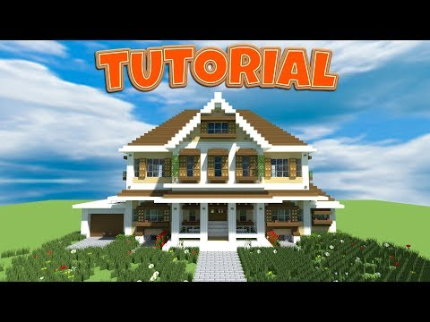 Minecraft: How to Make a Large Suburban House tutorial (#3)