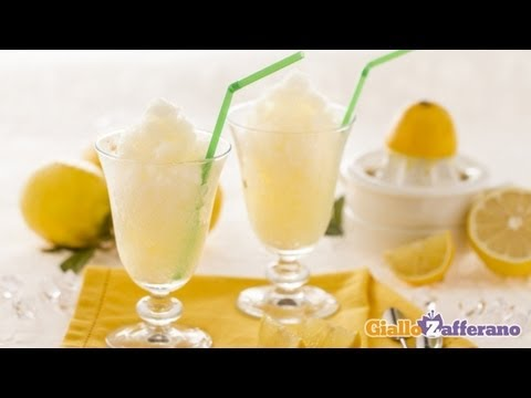 Lemon granita - Italian recipe