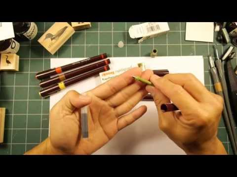 Stampscapes 101: Video 79.  Rotring Rapidograph Technical Pens