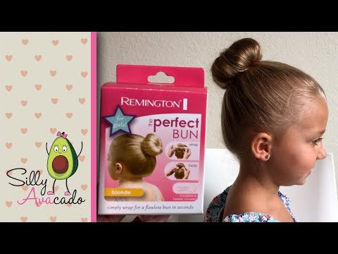 The Perfect Bun Review - Cute Girl Hairstyles for Toddler Girls - Blonde Bun Maker