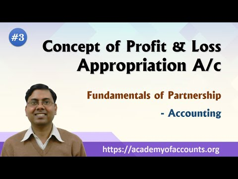 #3 Fundamental of Partnership Firm ~ Important concept of Profit & Loss Appropriation A/c