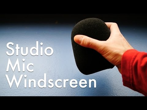 Inexpensive Windscreen for Studio Microphones!