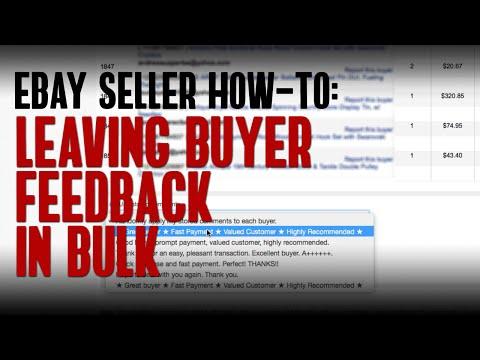 Best Method for Leaving Feedback in Bulk as a Seller on eBay