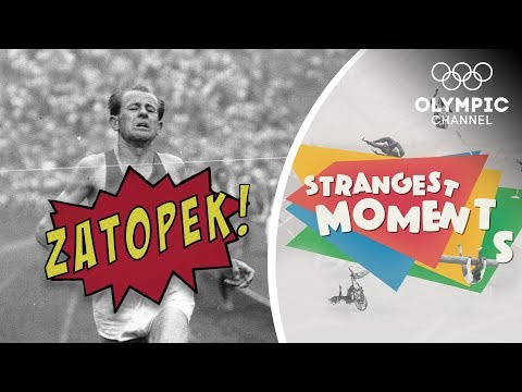 Emil Zatopek makes the Marathon look like a Stroll | Strangest Moments