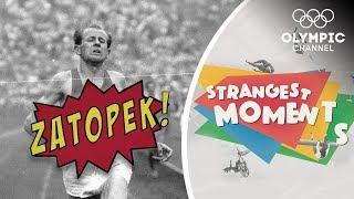 Emil Zatopek makes the Marathon look like a Stroll | Strangest Moments