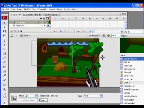 Flash Shooter Game 1 - Actionscript 2.0