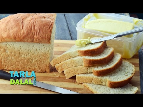 Bread Loaf, Basic Eggless White Bread Loaf by Tarla Dalal
