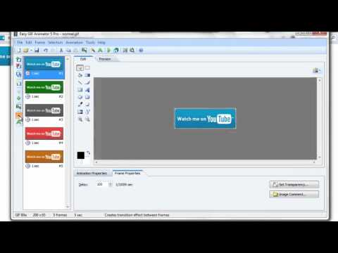 How To Make GIFs Animation Part 2 Making A Simple GIF Using  Easy GIF Animator Pro 5.1