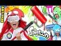 REAL LIFE SPLATOON CHALLENGE 3 Minute Splat Roller Battle W Paint Balloons FUNnel Vision Mess