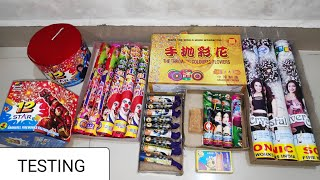 Testing different fireworks stash Diwali 2019/Crackers testing/crackers experiment/Diwali stash 2019