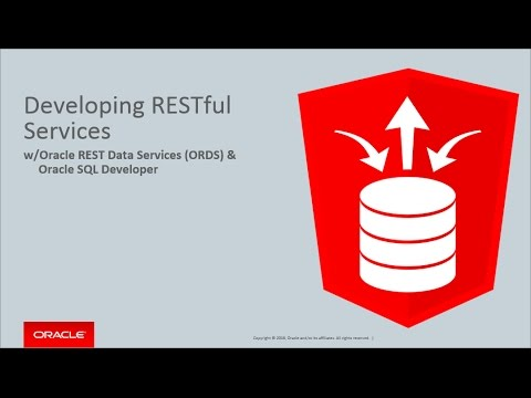 Oracle REST Data Services Development with Oracle SQL Developer