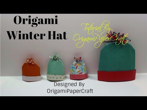 Origami Winter Hat / Knitted Hat ( Nón Len ) Designed By OrigamiPaperCraft