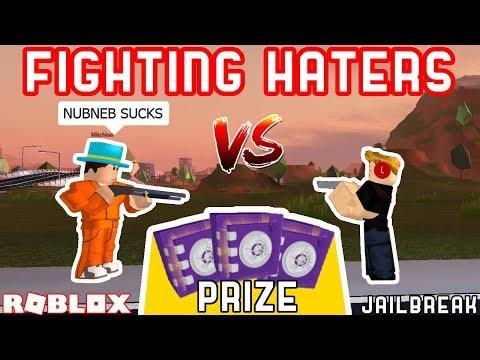 JAILBREAK 1v1 AGAINST MY HATERS!! *WINNER GETS PURPLE CRATE* | Roblox Jailbreak