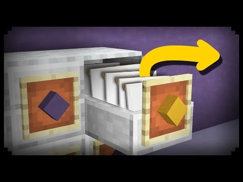 ✔ Minecraft: How to make a Working Filing Cabinet