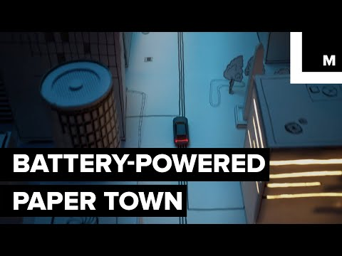 Battery-powered paper town