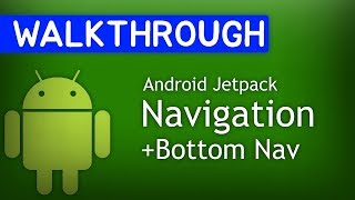 Android Studio Tutorial - Curved Bottom Navigation View with
