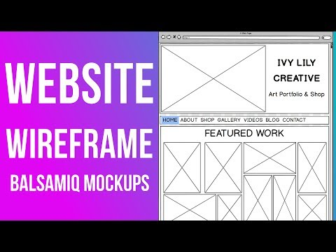 How to Wireframe a Website || Balsamiq Mockups Tutorial