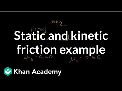 Static and kinetic friction example | Forces and Newton's laws of motion | Physics | Khan Academy