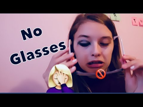 No Glasses Makeup Challenge!