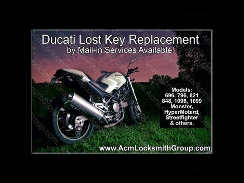 2013 Ducati 696 Monster - Lost Key Made & Chip Programming. Using our Mail-in Services.