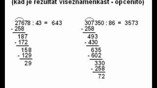 Dijeljenje dvoznamenkastim brojem - 2. dio - kad je rezultat višeznamenkast - općenito