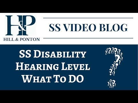 SS Hearing Level - What To Do