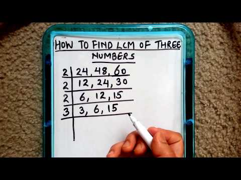 HOW TO FIND LCM OF THREE NUMBERS