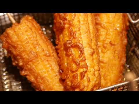 China Street Food Fried Corn On The Cob Nanning