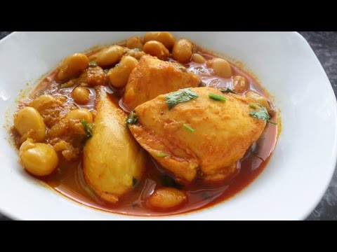Delicious chicken and butter bean curry