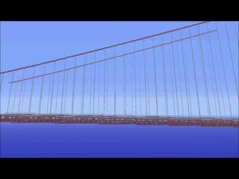 1:1 Golden Gate Bridge in minecraft!