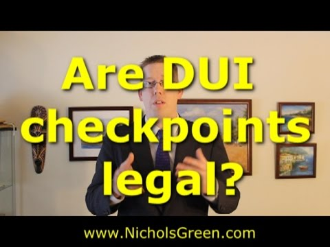 When are DUI checkpoints legal in Virginia? are police checkpoints constitutional?