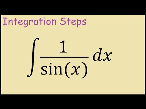 How to integrate 1/sinx