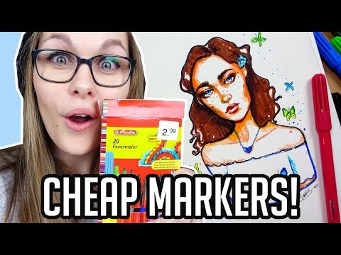CHEAP ART SUPPLY CHALLENGE 【3€ Marker Edition】
