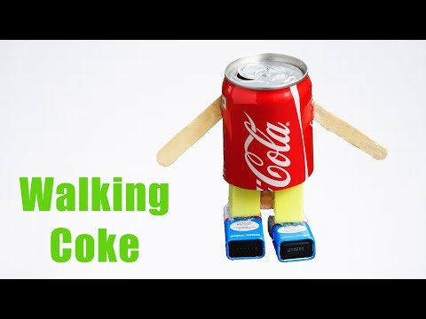 How to Make Walking Robot at Home - Using Coke Can