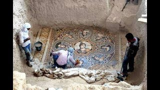 Beautiful 2,200 year old mosaics discovered in ancient Greek city