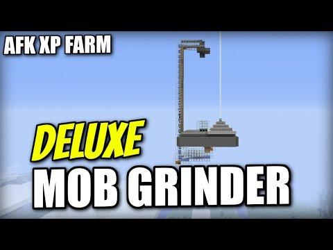 Minecraft - AUTOMATIC MOB GRINDER - AFK XP FARM - Tutorial ( PS4 / PE / XBOX / PS3 / WII U )