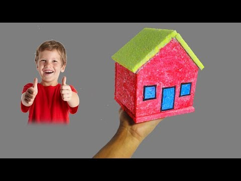How to Make Small Thermocol House Model - Very Easy and Quickly | School Project for Kids (DIY)