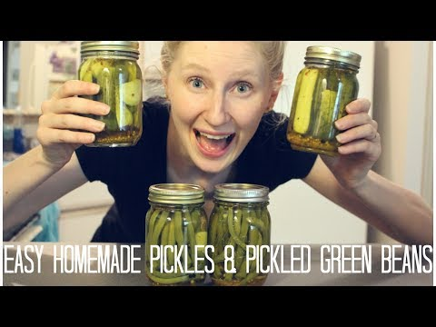 QUICK AND EASY PICKLES & PICKLED GREEN BEANS! |  Hey Blondie!