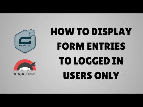 How to display form entries to logged in WordPress users only