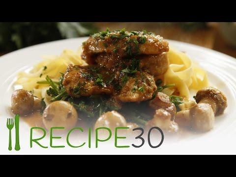 Best recipe ever! CHICKEN MARSALA - By www.recipe30.com