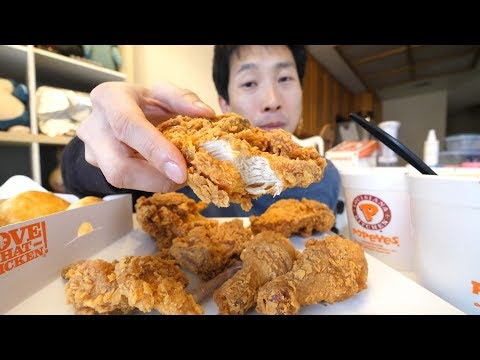 How Many Pounds of Food can I Eat Mukbang Popeyes Fried Chicken