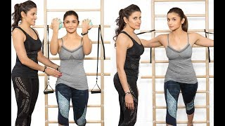Alia Bhatt's Pilates workout session will make you want to hit the gym | Hot Navel Cleavage